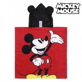 Serviette poncho avec capuche Mickey Mouse 74133