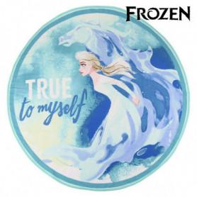 Serviette de plage Frozen 75506 Ronde Bleu