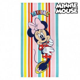 Serviette de plage Minnie Mouse 75686 Microfibre Multicouleur