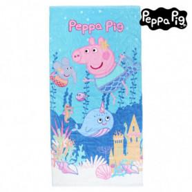 Serviette de plage Peppa Pig 75495 Coton Bleu