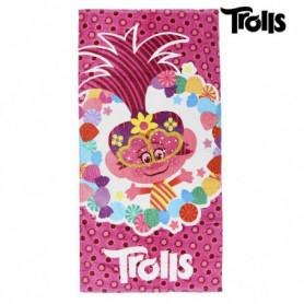 Serviette de plage Trolls 75496 Coton Rose