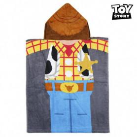 Serviette poncho avec capuche Woody Toy Story 75514 Coton