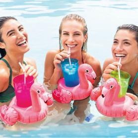 Porte-canette gonflable Intex 3 pcs Flamingo (33 X 25 cm)