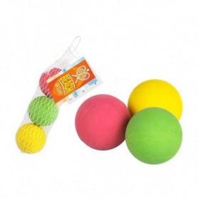 Balles pour Raquettes de plage 47 mm Caoutchouc (3 Uds)
