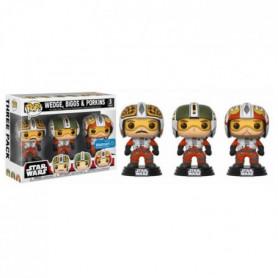 3 Figurines Funko Pop! Star Wars: Pilots: Wedge