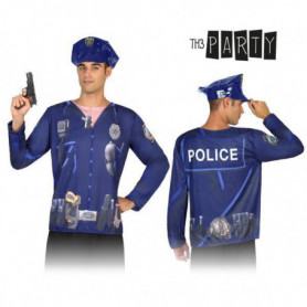 T-shirt pour adultes Th3 Party 7598 Policier