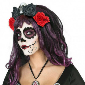 Serre-tête Crâne Noir Rouge