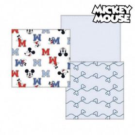 Serviette de bain en mousseline Mickey Mouse 75380 Bleu (Pack de 3)