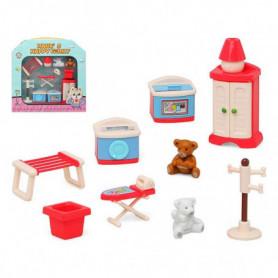 Accessoires pour maisons de poupées Happy Family Laundry Room
