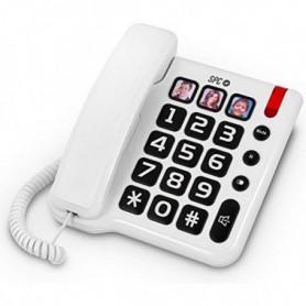 Téléphone Fixe pour Personnes Âgées SPC 3294 Blanc