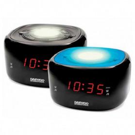Radio-réveil Daewoo DCR-440BK LED FM Noir
