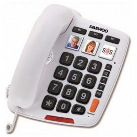 Téléphone Fixe pour Personnes Âgées Daewoo DTC-760 LED Blanc