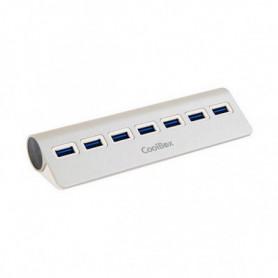 Hub USB CoolBox COO-HU7ALU3 Aluminium (7 ports)