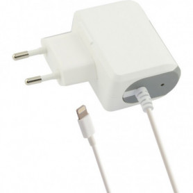 Chargeur mural Lightning 1a Contact iPhone Blanc