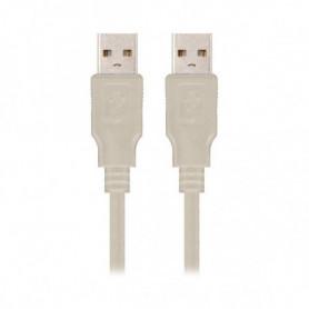 Câble USB 2.0 NANOCABLE 10.01.0303 Beige (2 M)