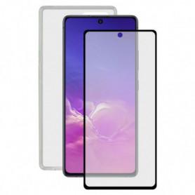 Film Protecteur en Verre Trempé + Étui pour Samsung Galaxy Note 10 Lite Contact