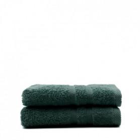 TODAY Lot de 2 Serviettes de toilette Émeraude - 100% Coton - 50 x 100 cm