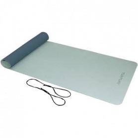 TUNTURI Tapis de Yoga en TPE 4mm Bleu Clair/Bleu Foncé