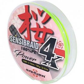 SAKURA Fils Tresses Sensibraid 4 Chart 150 M - 0.20 mm / 14Kg