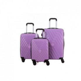 TRAVEL WORLD Ensemble de 3 valises 46/56/66cm Cassis