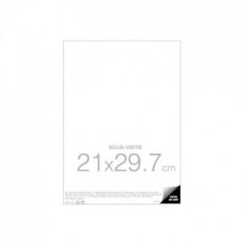Cadre sous verre 21x29,7 cm transparent