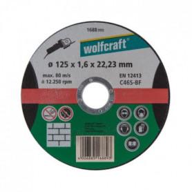 WOLFCRAFT 1 Disque à tronçonner pierre fin - Ø 125 mm x 1.6