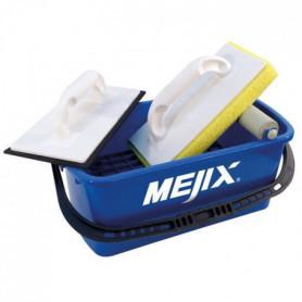 MEJIX Kit bac à joint 10L, taloches éponge et caoutchouc