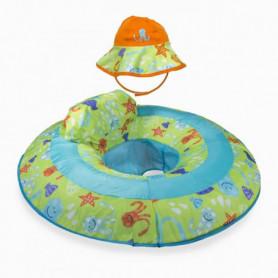 SWIMWAYS Spring Float Bébé + Chapeau De Bain Anti-Uv