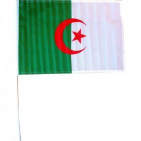 CHRONOSPORT Drapeau Algérie avec tige - 30 x 45 cm