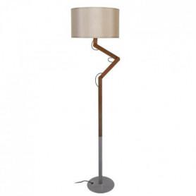 GERI Pied de lampadaire en bois massif noyer Ø157 x H 135 cm