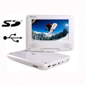 "TAKARA VR132W - Lecteur DVD portable 7"" Blanc"