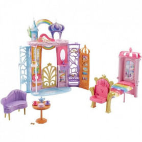 BARBIE - Chteau Arc-En-Ciel - Transportable