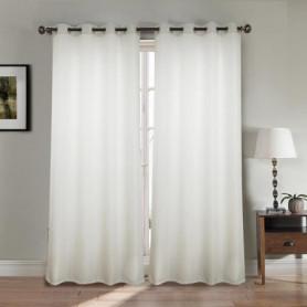 Paire double rideaux 140x260 cm Blanc