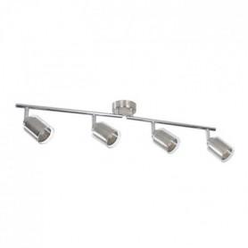FUZO Spot 4 lumieres LED - L 69,5 x H 11 cm - Gris