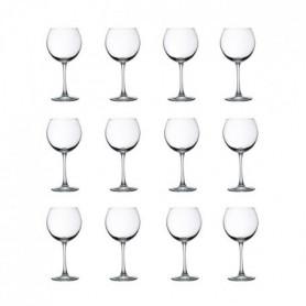 LIBBEY CLARET Lot de 12 verres a vin 19 cl transparent