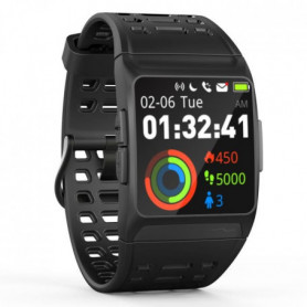 GPS cardio - Multisports - Waterproof IP68 - Noir