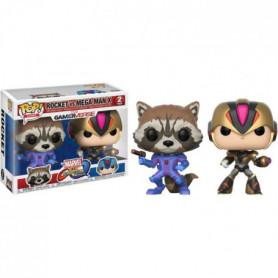 2 Figurines Funko Pop! Marvel: Rocket vs Mega Man