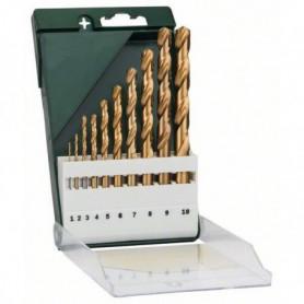 BOSCH Accessoires - 10 forets rectifies hss -tin 118