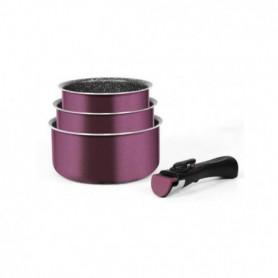 ARTHUR MARTIN Amovible set de 3 casseroles 16-18-20 cm