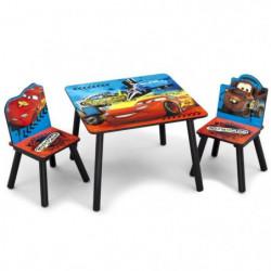 CARS - Ensemble Table et 2 Chaises Bois Enfant
