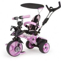 INJUSA Tricycle enfant évolutif City Rose